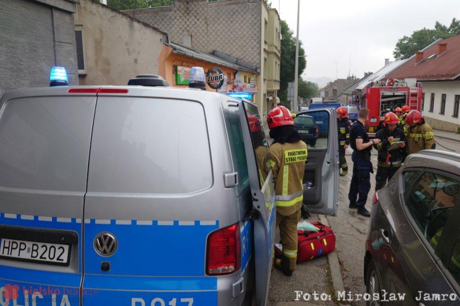 Bielsko- Biała: Pożar sklepu spożywczego.