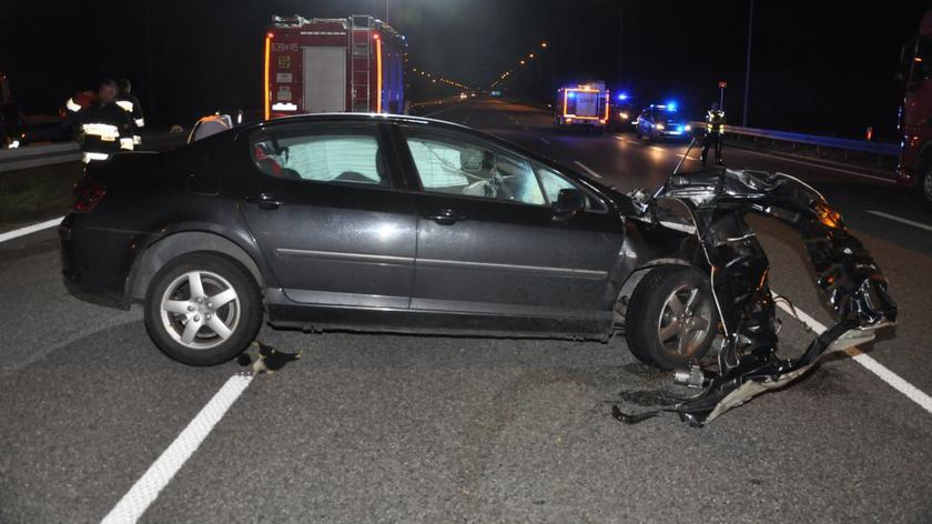 Śmiertelny wypadek na autostradzie A1 w miejscowości Wieszowa.