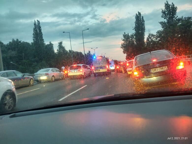 Katowice: Stłuczka samochodu z motocyklem.
