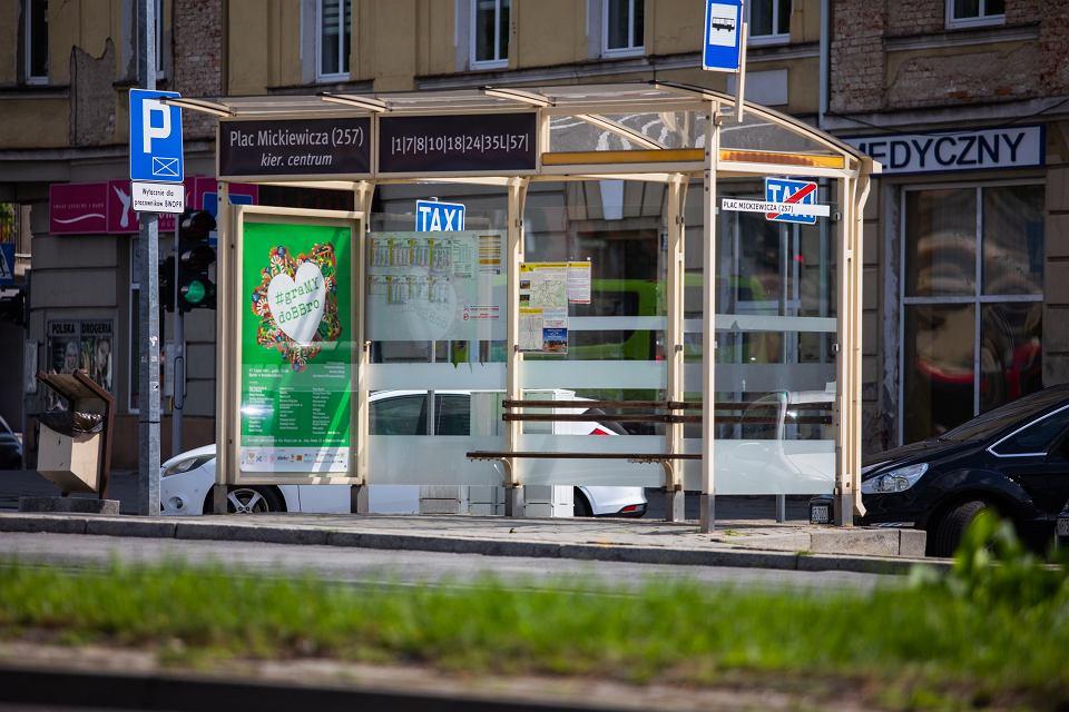 zielony przystanek w Bielsku-Białej